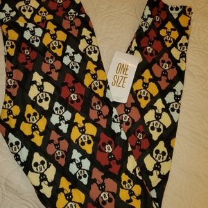 NWT OS DISNEY LULAROE LEGGINGS MICKEY MOUSE